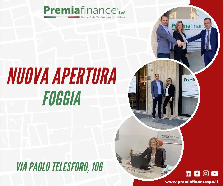 Nuova agenzia Premia Finance SpA – attiva la sede di Foggia