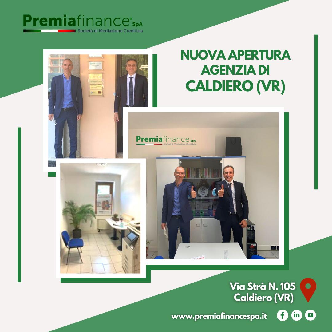 Premia Finance SpA cresce ancora, inaugurata nuova Agenzia a Caldiero (Verona)