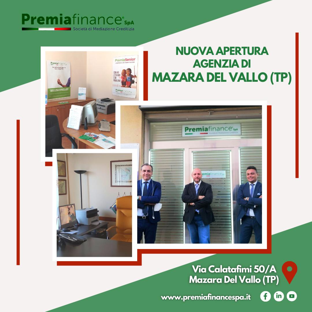 Premia Finance SpA cresce ancora, inaugurata l'Agenzia di Mazara Del Vallo (Trapani)