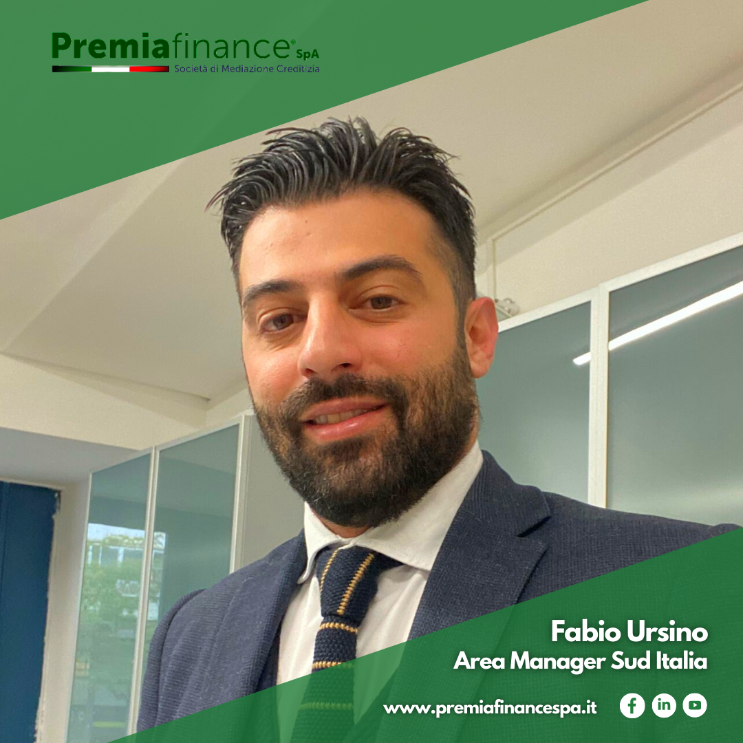 Premia Finance SpA potenzia il Team Commerciale con l'inserimento di Fabio Ursino (Area Manager Sud Italia)